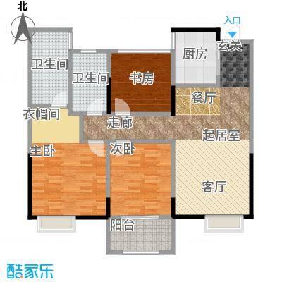 嘉宏蔚蓝天地102.00㎡B户型3室2厅2卫102平米户型3室2厅2卫
