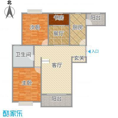唐宁大道119.18户型图