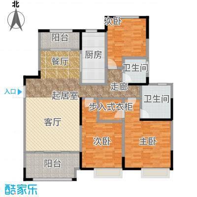嘉宏蔚蓝天地138.00㎡F2户型3室2厅2卫138平米户型3室2厅2卫