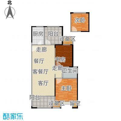 路劲城市主场99.00㎡1#楼99平米B2户型3室2厅1卫