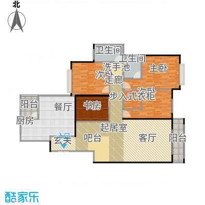 水印长堤蓝泊湾157.38㎡户型4室1厅2卫