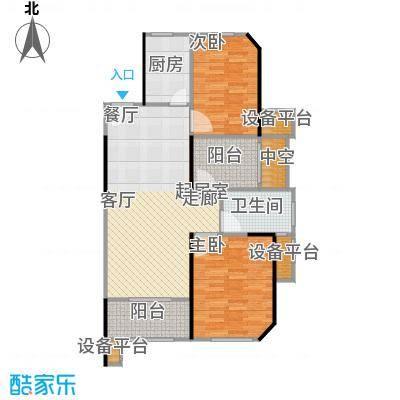 绿地世纪城89.00㎡27号楼89平米户型2室2厅1卫