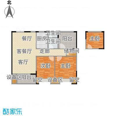 百大康桥95.00㎡B户型潋滟三室两厅一卫95㎡户型3室2厅1卫