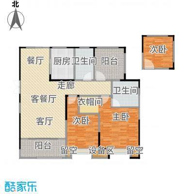 百大康桥124.00㎡E户型花漾三室两厅两卫124㎡户型3室2厅2卫