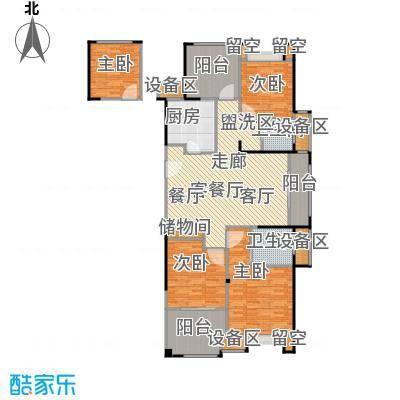 路劲城市主场129.00㎡1#楼C1户型约129平米户型4室2厅2卫