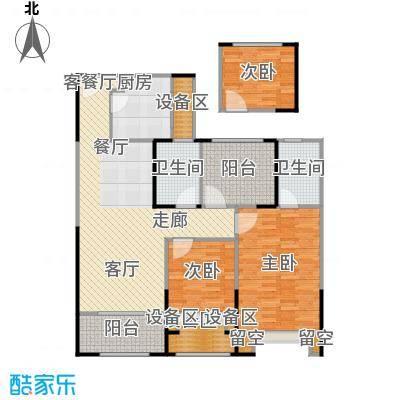 路劲城市主场101.00㎡4#楼A3户型101平米户型3室2厅2卫