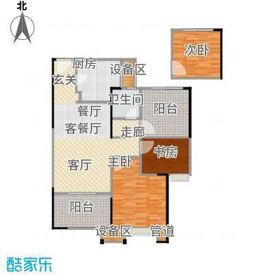 路劲城市主场87.00㎡1#楼A1户型87平米户型3室2厅1卫