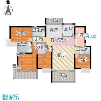湖景壹号庄园21栋户型4室1厅3卫1厨