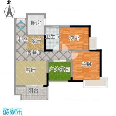 港口国际86.00㎡123栋标准层03、04户型2室1厅1卫1厨