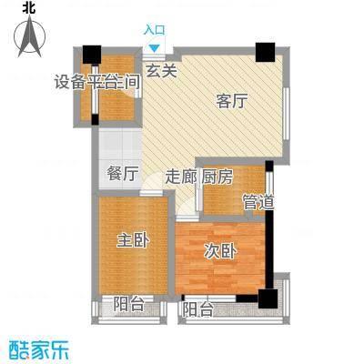金州福佳新天地广场商业81.00㎡D户型 2室1厅 81平米户型