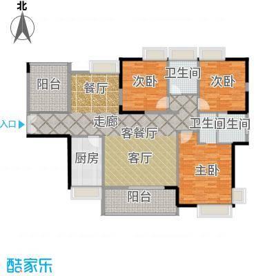 港口国际139.00㎡123栋标准层02户型3室1厅2卫1厨