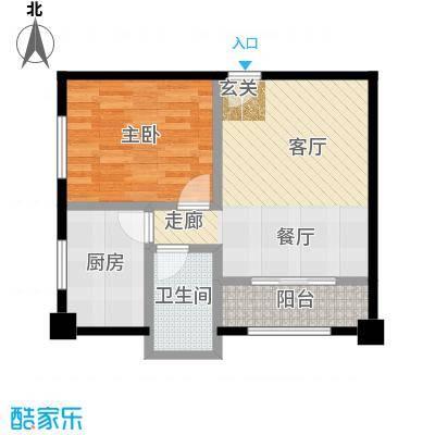 月畔湾・酒店式公寓51.06㎡户型1室1卫1厨