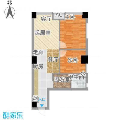 东港林苑户型2室1卫
