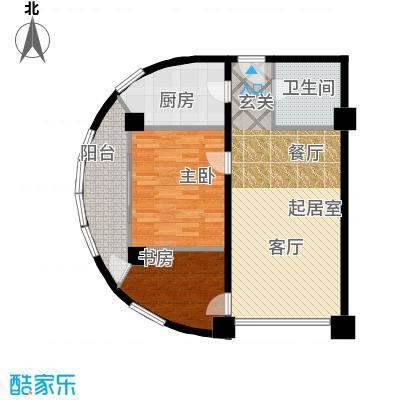 HELLO广场户型2室1卫1厨