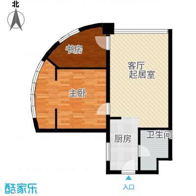 HELLO广场户型2室1卫
