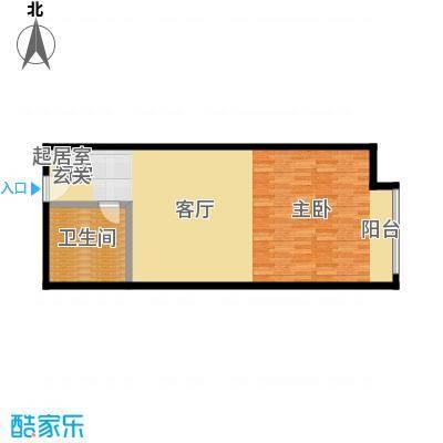 新世界・名泷72.79㎡S1低区户型一室一厅一卫户型1室1厅1卫