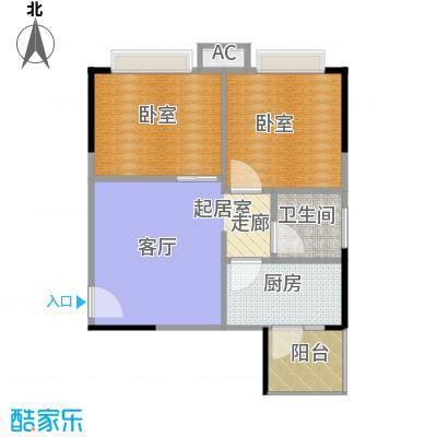 中惠香樟半岛53.00㎡25栋05单位户型1卫1厨