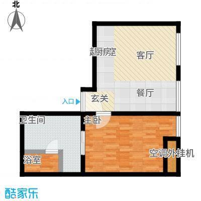 新世界・名泷65.66㎡S2户型两室两厅一卫户型1室1厅1卫