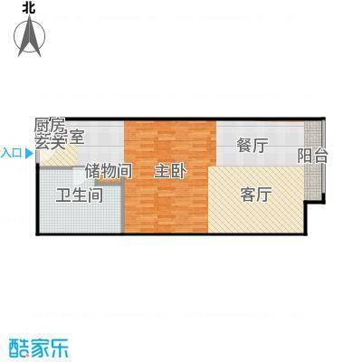 新世界・名泷72.79㎡S1高区户型一室一厅一卫户型1室1厅1卫