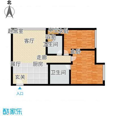 新世界・名泷126.25㎡A2户型两室两厅一卫户型2室2厅1卫