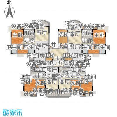 碧桂园常平首府4号楼J611户型8室8卫4厨