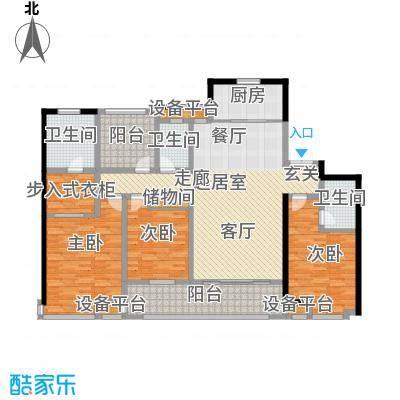 中海㎡城公馆4房2厅3卫172㎡户型4室2厅3卫