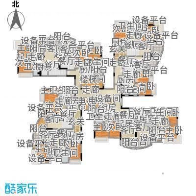 碧桂园常平首府7号楼J610户型9室8卫8厨