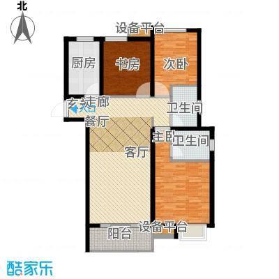 中海锦�湾110.00㎡C2户型3室2厅2卫