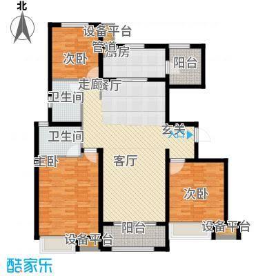 中海锦�湾127.00㎡C4户型3室2厅2卫