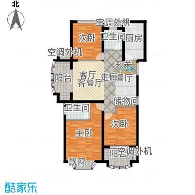 大名城119.00㎡二期W5户型3室2厅2卫