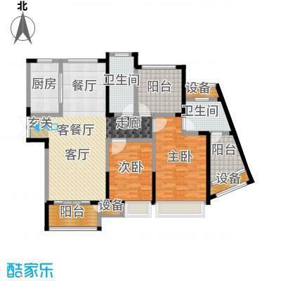 绿洲天逸城130.40㎡9号楼I户型130.40平米户型3室2厅2卫