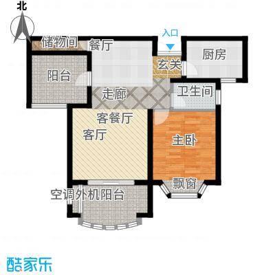 大名城85.00㎡二期82-85平米W2户型2室2厅1卫