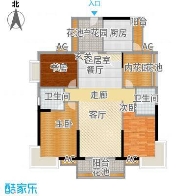 15、16、20、21栋标准层03、04房J户型