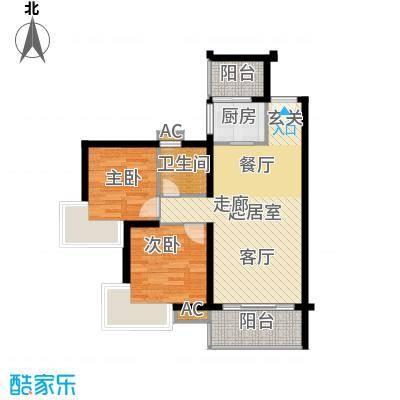 1-7栋标准层03、04房A户型