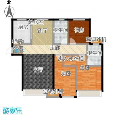 远洋荣域128.00㎡B1三室两厅两卫128平米户型图户型3室2厅2卫