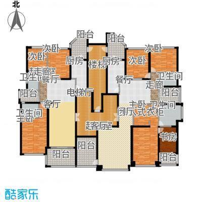 恒大华府2栋2单元标准层平面示意图户型7室4卫2厨