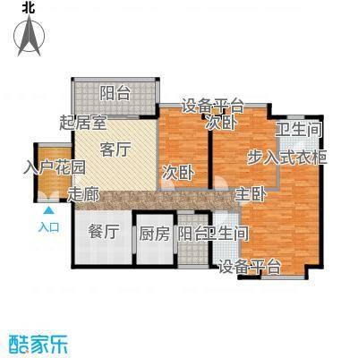 富盈东方华府三期紫峰户型3室2卫1厨