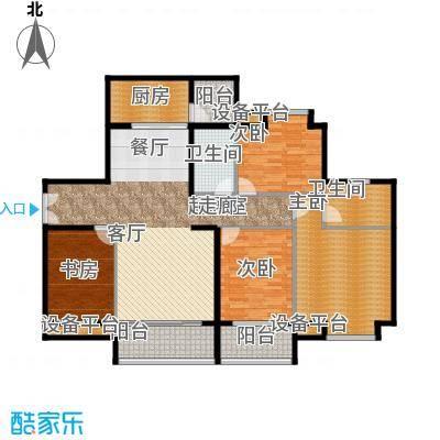 富盈东方华府三期紫峰138.00㎡户型4室2卫1厨