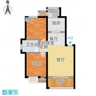 哈工大・慧海湾慧海湾户型图D5#楼 A户型 两室两厅一卫 面积:78㎡户型