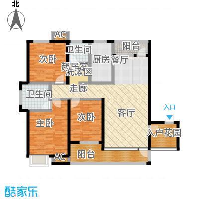 哈工大・慧海湾慧海湾户型图B1#楼 D户型 三室两厅两卫 面积:130㎡户型