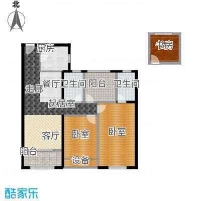 路劲城109.00㎡4号楼B2+户型3室2厅2卫