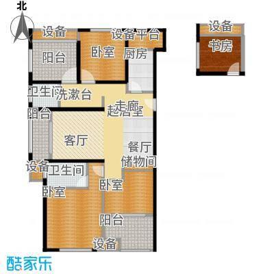 路劲城124.00㎡3号楼D3+户型4室2厅2卫