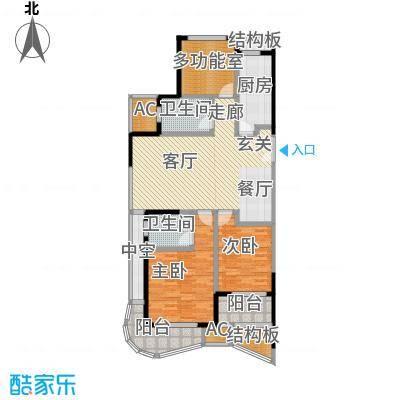 翡丽蓝湾118.42㎡A户型2室2厅2卫LL