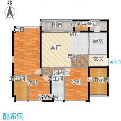 金达锦绣东方138.00㎡3/4栋01/5栋03户型3室2卫1厨