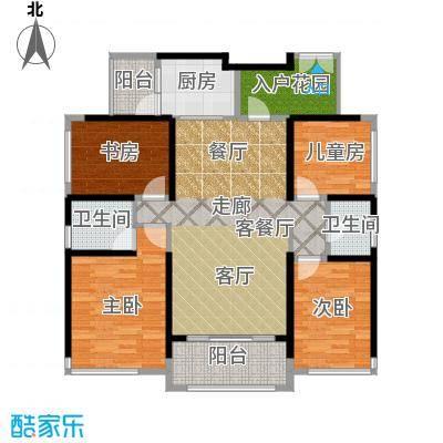 名巨中央花园116.84㎡G户型4室1厅2卫1厨
