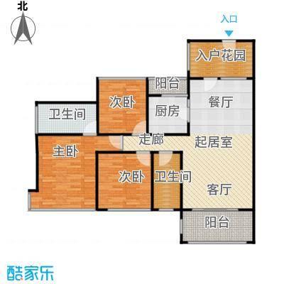 东港华府117.00㎡1号楼032号楼02户型3室2卫1厨
