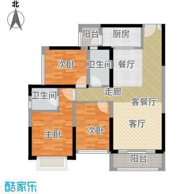 星城翠珑湾101.00㎡臻荣经典户型3室1厅2卫1厨