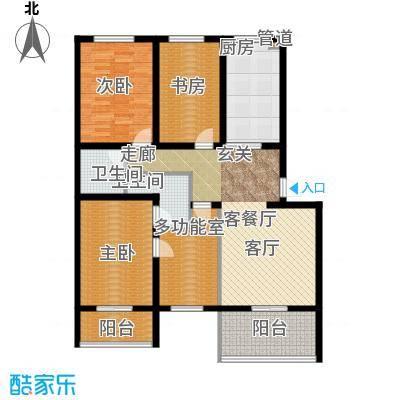 尚城花墅136.71㎡E户型2单元5号楼户型4室2厅2卫