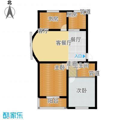 尚城花墅111.87㎡C户型2单元5号楼户型3室2厅1卫