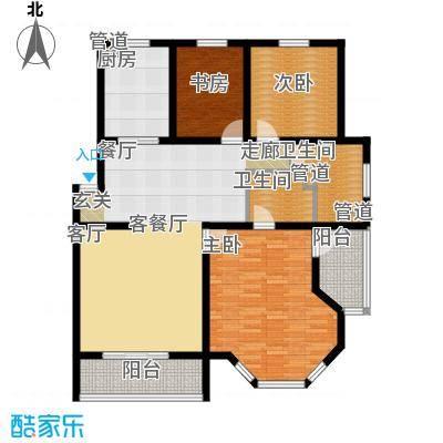 尚城花墅139.17㎡F1户型3单元6号楼户型3室2厅2卫